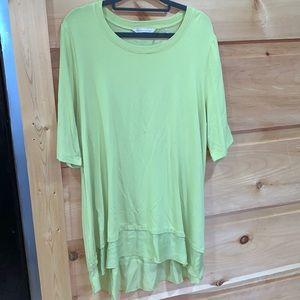 EUC Soft Surroundings XL green tunic top